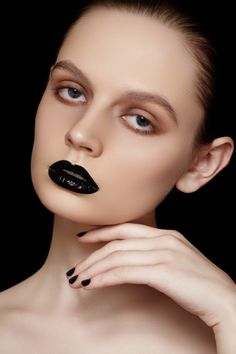 Photographers — Marina & Artem,  MUA — Marina Morozova,  Model — Olga Simonova at Chkalova Evgenia Model Agency  #fashion #beauty #black #makeup