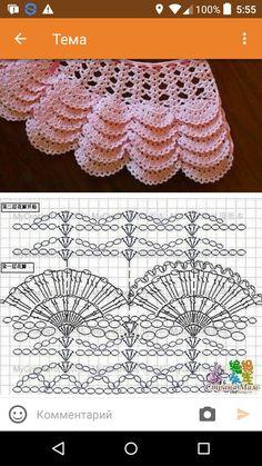 Raefa Tamish's media content and analytics Crochet Baby Dress Pattern, Crochet Chart, Crochet Motif, Baby Girl Crochet, Crochet Baby Clothes, Crochet For Kids, Crochet Stitches Patterns, Baby Knitting Patterns, Crochet Designs