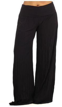 26085b00e12 Plus Size Palazzo Pants Black