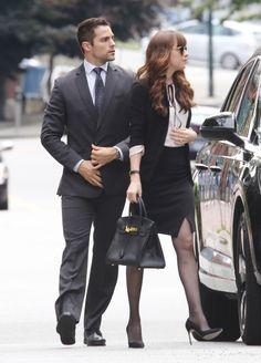 En las escenas que se grabaron también se pudo ver a Dakota Johnson y a Brant Daugherty, que interpreta al guardaespaldas de Anastasia. - Finaliza el rodaje de las secuelas de