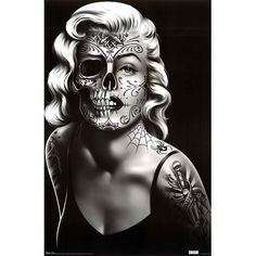 Amazon.com: (22x34) Daygirl (Skull Face) Art Poster Print: Home & Kitchen