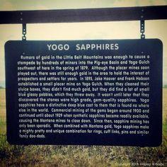 Yogo Sapphires in Montana