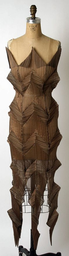 Wearable Art, Issey Miyake, Designer, ca. 1991, dress, synthetic, dimensions: length at CB: 49 1/2 in. (125.7 cm), Credit Line: Gift of Muriel Kallis Newman, 2005