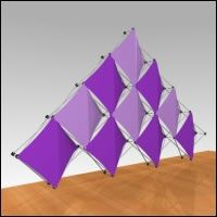"Fabric FACTORY™ Chorus™ 10 Quad ""10 Quad"" Multi-Panel Fabric Popup Display"