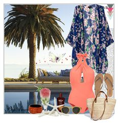 """""""Summer Time"""" by anne-977 ❤ liked on Polyvore featuring Lilliput & Felix, T KEES, Illesteva, WALL, Madewell and Fantasy Jewelry Box"""