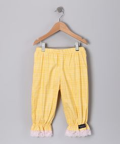 Yellow Lace Bloomers - Toddler & Girls