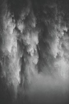 Closeup of Falling Water - Art Print - 9.375 x 14.000 / Archival Matte Paper