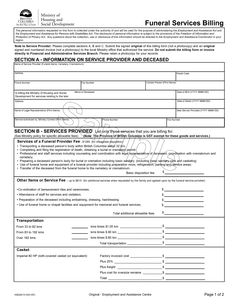Nice Funeral Bill Template Images Gallery >> Invoice Samples Funeral ...