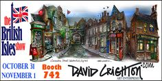 I'm pleased to be one of the exhibitors October 31 – November 1 at the #Toronto #ZOOMERSHOW and British Isles show. I'll be at booth 742.   Come see David's beautiful Art Calendar and Note Cards. Personalized print calendars and cards make great hostess gifts and stocking stuffers. Consider art as the gift of memories using the beautiful Coronation St illustrations David is well known for.  Sign up to receive exclusive offers: https://vz113.infusionsoft.com/app/form/britishislesshow
