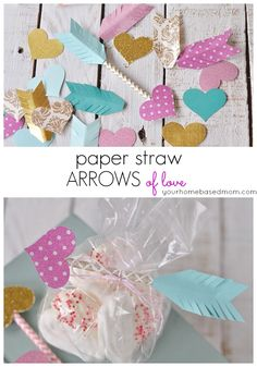 Paper Straw Arrows of Love - fun Valentine's Day DIY