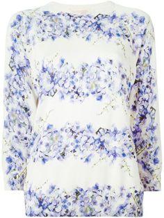 GIAMBATTISTA VALLI Giambattista Valli Wisteria Print Top. #giambattistavalli #cloth #sweaters