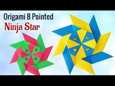 Project for Kids : How To Make DIY 8 Pointed Origami Ninja Star | Kids A...
