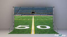 Football Field – Photography Backdrop