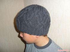 . Мужская шапка спицами