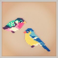 Birds hama perler beads by mette
