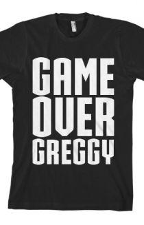 GameOverGreggy Tee $20