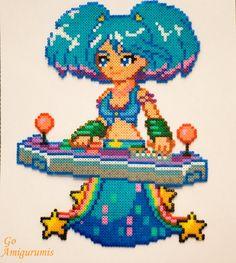 Sona Hama beads - Sona Arcade - Sona League of legends - Sona Gift - Sona Dj - Sona perler beads - Sona art - Sona support - Lol