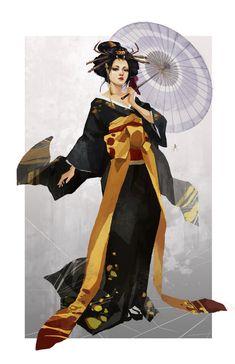 jorogumo by chibi-oneechan on DeviantArt Female Character Concept, Character Art, Fantasy Characters, Female Characters, Female Samurai, Anime Kimono, Geisha Art, Japanese Characters, Japanese Outfits