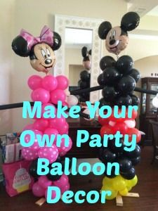 Mickey and Minnie Balloons decor