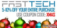 """Just a heads up. The Fasttech coupon code """"XMAS"""" is still going strong. Use it at checkout to save 5-10% off your entire purchase! That includes all e-cig items! Seriously, when was the last time there was a valid Fasttech coupon code for vape gear? Exactly. http://gotsmok.com"""