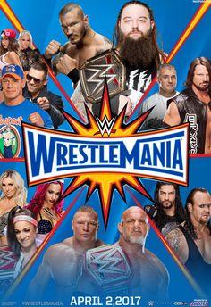 WWE WrestleMania 33 Custom Poster (Made by me) by MrPHENOMENAL15 on @DeviantArt