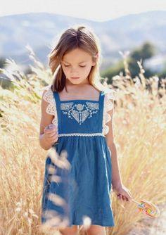 Celia Embroidered Pinafore Dress | Louise Misha