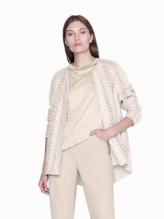 Akris® Official – Jacket in Wool Silk Tweed with St. Black Trousers, Tunic Shirt, Tweed, Boho, Feminine, Cap Sleeves, Cashmere, Embroidery, Silk