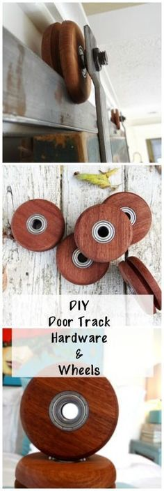 Free tutorial : How to make your own door track hardware -->> http://www.lynneknowlton.com/diy-door-track-hardware-its-dbomb-dot-com/