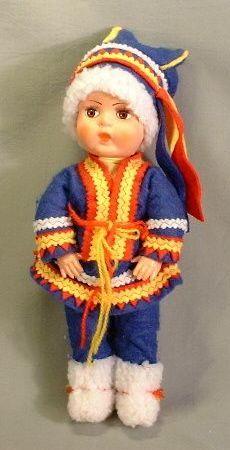 Polar Nukke doll in Saami clothing 1976 - 1986