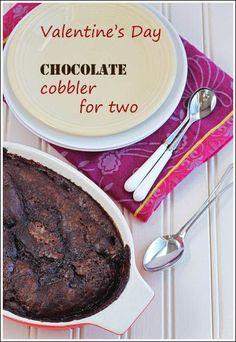 Chocolate Cobbler for two | Dessert For Two