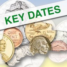 The Keys to your Collection<br />Those elusive Key dates Rare Coins Worth Money, Valuable Coins, Coin Worth, Penny Coin, Old Money, Key Dates, Old Coins, Half Dollar, Coin Collecting