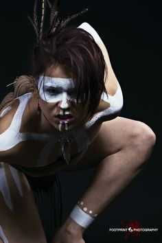#BodyPaintMagazine #Art #BodyArt #BodyPaint #Model #Photography #BodyPainting  Tribal Trouble by Tony Foot on 500px