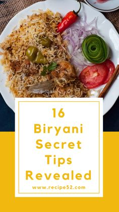 I'm leaking all my best Biryani secrets tips that I've learned from friends, and people around me. Please give me a thumps up in comment if it helps. Biryani is a feast and making it pe… Veg Recipes, Curry Recipes, Indian Food Recipes, Vegetarian Recipes, Chicken Recipes, Cooking Recipes, Cooking Tips, Chicken Snacks, Arabic Recipes