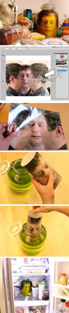 Head in a Jar Prank Click Pic for 20 DIY Halloween Decorations for Kids to Make Cheap and Easy Halloween Decorations on a Budget Adulte Halloween, Soirée Halloween, Adornos Halloween, Halloween Projects, Holidays Halloween, Deco Haloween, Head In A Jar, Cumpleaños Harry Potter, Halloween Decorations For Kids