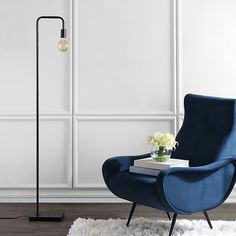 Safavieh Bran Floor Lamp In Dark Grey - Sleek and minimalist, the Bran Floor Lamp will add something special to your living space. Featuring stark lines and an exposed bulb, this industrial-inspired lamp will fill the room with a warm, soft glow while elevating your interior. Tree Floor Lamp, Swing Arm Floor Lamp, Arc Floor Lamps, Contemporary Floor Lamps, Contemporary Design, Torchiere Floor Lamp, Grey Bedding, Home Lighting, Living Spaces