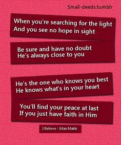 I Believe - one of my favorite songs from Irfan Makki