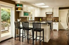 Transitional Kitchen - Found on Zillow Digs. I like the color mix and it's about the size of my space.