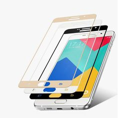 2.5D 9H Tempered Glass Full Coverage Screen Protector For Samsung Galaxy A7 2016 A710 Display Protective Film Transparent 0.26mm