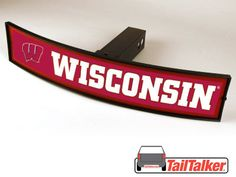 Wisconsin Badgers Trailer Hitch Cover Illuminated NCAA Officially Licensed by tailtalker on Etsy