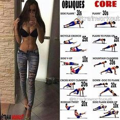 Tighten and define your core with these exercises Tag a friend - Like - Save Follow @FirstClassGym