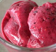 """Fruit Frozen Yogurt: """"It can't get much easier than this! I used a combo of frozen berries, and it was wonderful! A great, cool treat on a warm day!"""" -Sydney Mike"""