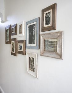 reclaimed wood frames ~ Rose & Grey...