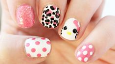 Hello Kitty Mix and Match Nail Art | TotallyCoolNails