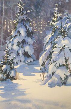 53 meilleures images du tableau aquarelle neige en 2019 aquarelles neige et paysage d 39 hiver - Dessiner un paysage d hiver ...