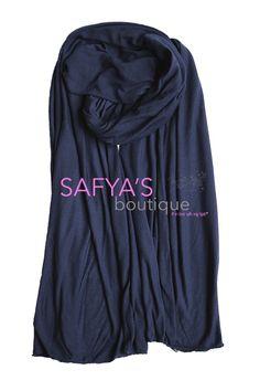 Châle en jersey - Bleu Nuit via safya's boutique. Click on the image to see more!