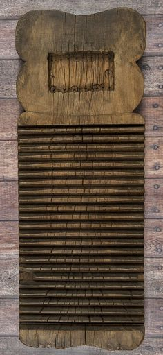 Primitive wooden scrub board, 19th c.