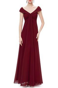 Ruche Empire Waist Prom Dress