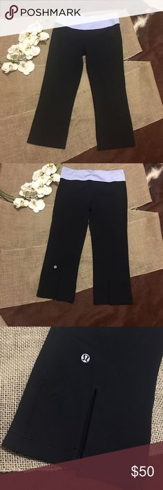 LULULEMON CROP PANTS In GREAT CONDITION NO STAINS NO HOLES! HIGH RISE! lululemon athletica Pants