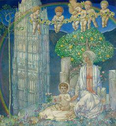 "Edward Reginald Frampton (1870-1923), ""Our Lady of Promise"" (La Madonna di Promessa)"