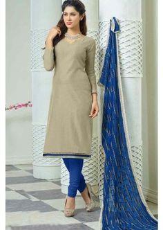 couleur grise churidar Chanderi costume, - 72,00 €, #Salwarkameezmariage #Salwarkameezfemme #Salwarkameezfrance #Shopkund